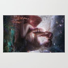 Counting stars - Romantic couple kissing Rug