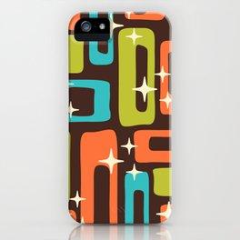 Retro Mid Century Modern Abstract Pattern 632 iPhone Case