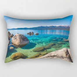 Let's Jump In At Sand Harbor, Lake Tahoe Rectangular Pillow