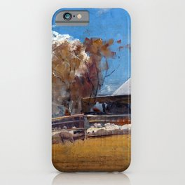 Tom Roberts Shearing the Rams iPhone Case