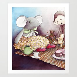 The Teddy Bear Picnic Art Print
