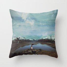 Wandering Satellite  Throw Pillow