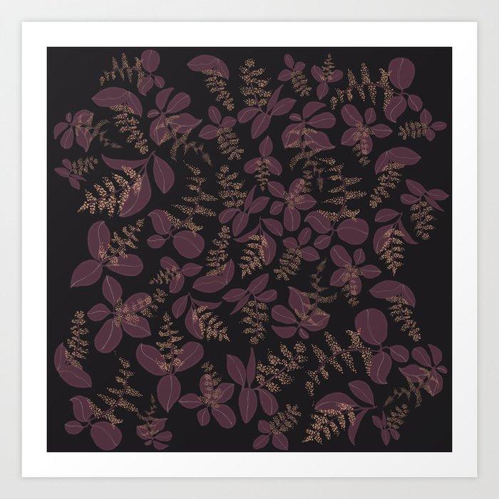 purpur // purple branches, delicate flowers Kunstdrucke