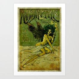 Vintage Parisian Green Fairy Absinthe Advertisement Art Print