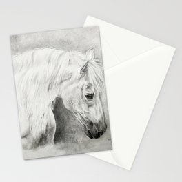 Portrait of a Stallion Stationery Cards