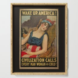 Old Propaganda Poster from 1917 modified to resonate with today's modern political climate. Serving Tray