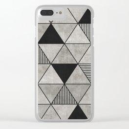 Concrete Triangles 2 Clear iPhone Case