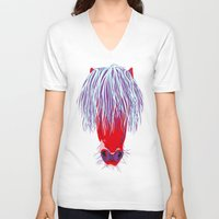 pony V-neck T-shirts featuring Pony by FTF by marge fellerer