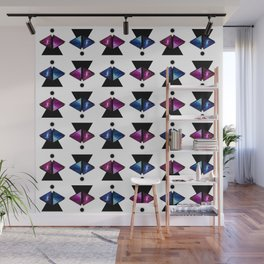 Triangle abstract pattern with Galaxy Wall Mural