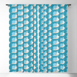Blue snail mail Blackout Curtain