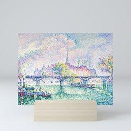 """Paul Signac """"Le Pont des Arts"""" (1912) Mini Art Print"""