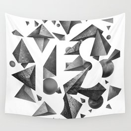 Not So Negative Space - White Wall Tapestry