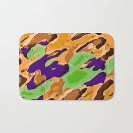 brown purple and green camouflage graffiti painting abstract background Bath Mat