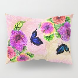Painting of hibiscus Pillow Sham