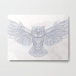 Ethnic Owl Metal Print