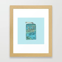 Iced Coffee Juicebox Framed Art Print