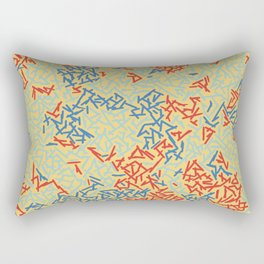 JUST A BUNCH OF LINES - THREE COLORS Rectangular Pillow