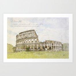 Colosseum, Rome Italy Art Print