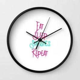 Eat Sleep Stats Fun Quote Wall Clock
