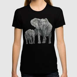 African Elephant and Calf T-shirt