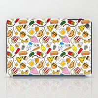 junk food iPad Cases featuring Junk food doodle by Waffleme & Co.