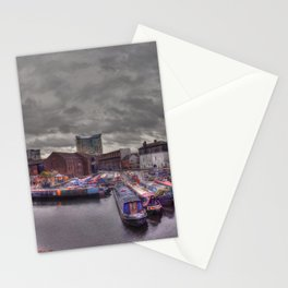 Gas Street Basin - the Canal House at dusk Stationery Cards