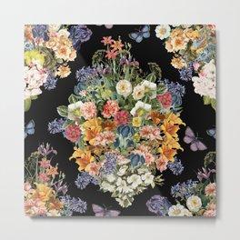 Lush Baroque Floral Metal Print