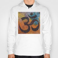 om Hoodies featuring Om by Michael Creese