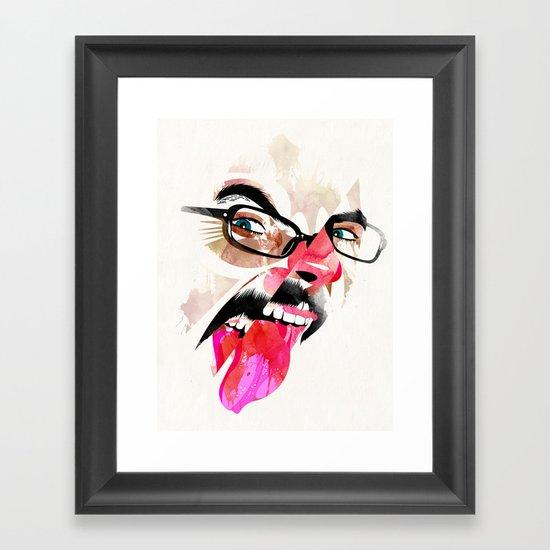 Lengua Framed Art Print