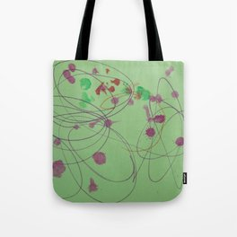 Green Dots and Swirls Tote Bag