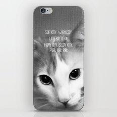 Soft Kitty iPhone & iPod Skin