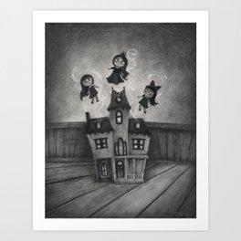 Haunted Doll House Art Print