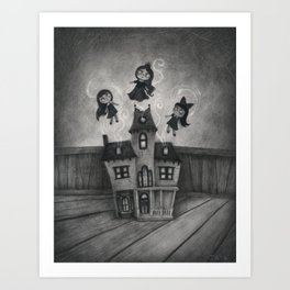 Haunted Doll House Art Print