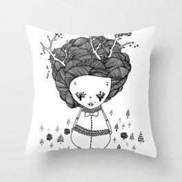 treegirl Throw Pillow