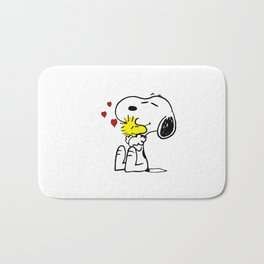 snoopy love woodstock Bath Mat