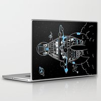 interstellar Laptop & iPad Skins featuring Interstellar Travels by Sarah Crosby