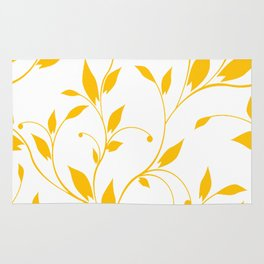 FLOWERY VINES | white yellow Rug