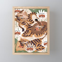 Tiger Tamers Framed Mini Art Print