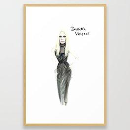 Donatella portrait Framed Art Print
