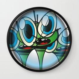 Raindrop Wars Wall Clock