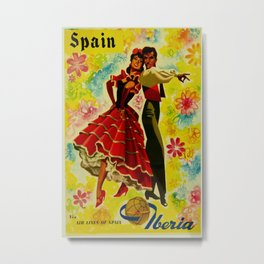 Vintage Spain Travel Ad - Flamenco Metal Print
