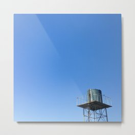 #Photo190 #213 #Blue #Watertenk and #Sky Metal Print
