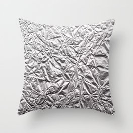 Silver Paper Throw Pillow
