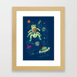Antronaut And The Sugar Galaxy Framed Art Print
