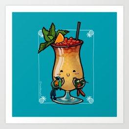 Food Series - Trinidad Cobbler (blue) Art Print