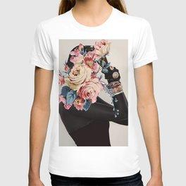 Black of flowers T-shirt