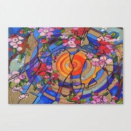 Cherry Blossoms Over Hiroshima Canvas Print