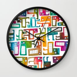 Tetris Monsters Wall Clock