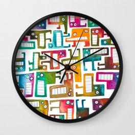 Tetris Monsters Wall Clock