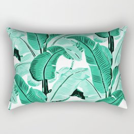 jungle leaf pattern mint Rectangular Pillow